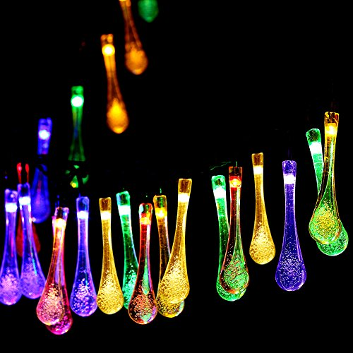Best Quality Solar String Lights : Awardpedia - Solar Outdoor String Lights,GDEALER 20ft 30 LED Water Drop Solar String Fairy ...