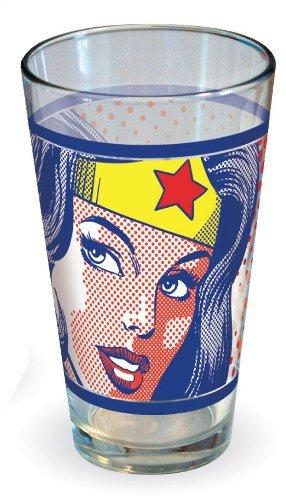 Wonder Woman Pop Art Face Pint Glass сувенир фмф магнит круглый pop art гоголь