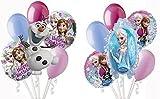 Disney Frozen Themed Balloon Bouquet Assortments (12 per Package) Pkg/1