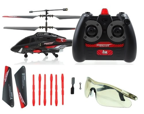 JXD 343 GYRO SHOOTER Missile launching Electric 3CH RTF RC Helicopter with Realistic firing sounds