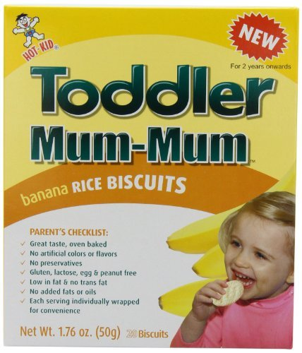 Hot-Kid Toddler Mum-Mum Rice Biscuit, Banana, 1.76 Ounce (Pack of 6) Kids, Infant, Child, Baby Products
