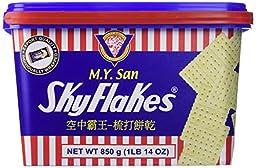 MY San Skyflakes Saltine Crackers 850g (1LB 14OZ) (3 Pack)