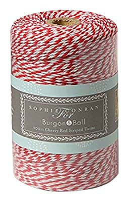 200m Red and White Twine - use as bakers twine, garden twine or gift wrapping