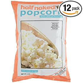 Good Health Half Naked Popcorn with a Hint of Olive Oil, 4-Ounce Bags (Pack of 12) by Olive Oil