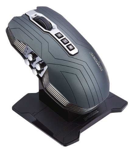 Perixx MX-3200, Dual Mode Wired and Wireless Gaming Laser Mouse - Avago 5000dpi ADNS 9500 Laser Sensor - Charging Dock with Li-ion Battery - Dual Antenna with Optimal Wireless Connection - Omron Micro Switches - Ultra Polling 1000HZ - Metallic Green