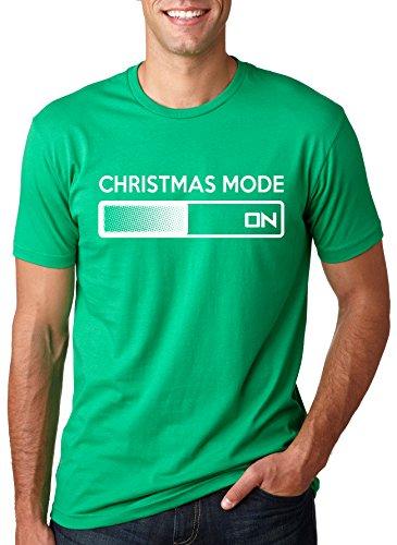 Christmas Mode On Funny Xmas Tee Holidays Shirt Xl