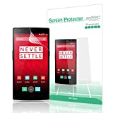 amFilm® OnePlus One HD Clear (Invisible) Screen Protector (3-Pack) [Lifetime Warranty]