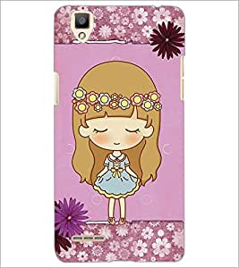 PrintDhaba Cute Doll D-3527 Back Case Cover for OPPO F1 (Multi-Coloured)