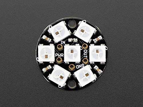 Adafruit NeoPixel Jewel - 7 x WS2812 5050 RGB LED with Integrated Drivers [ADA2226]