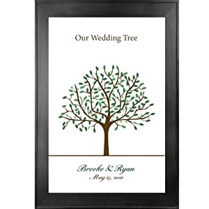 Thumbprint Guest Book Wedding Tree # 1 16x24 for 50-75 guests