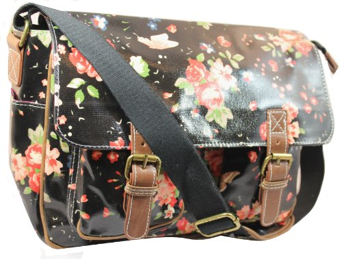 Lydc Women's Milly Floral Satchel Black SS01015