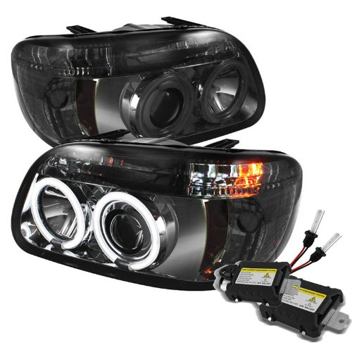 Carpart4U 6000K Xenon Hid Performance Headlights Package For Ford Explorer 1Pc Ccfl Halo Smoke Projector Headlights