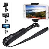 Sinnofoto S11 Portable Aluminium Monopod Selfie Stick(black) With Bluetooth And Built-in Remote Pole For Gopro...