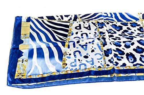Foulard cuadrado RONCATO luxury motivos azul en box regalo mujer L1217