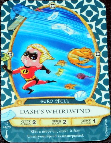 Sorcerers Mask of the Magic Kingdom Game, Walt Disney World - Card #44 - Dash's Whirlwind - 1