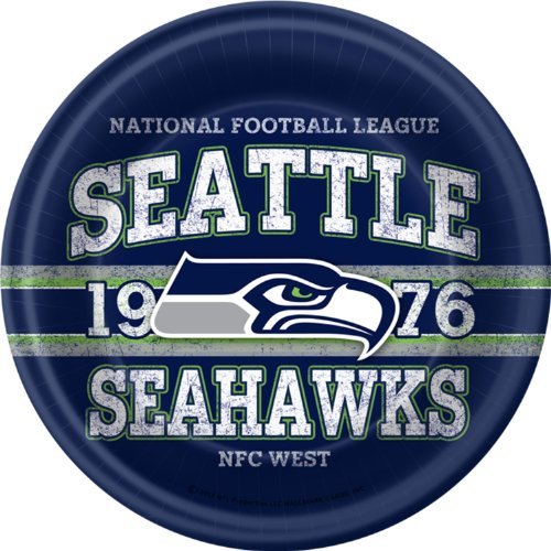 Seattle Seahawks Dinner Plates (8 per package) at Amazon.com