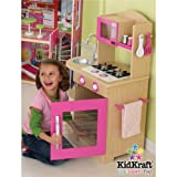 Kidkraft Pink Wooden Kitchen 53195 Activity Playset (Pink)by Kidkraft