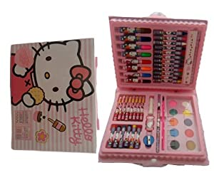 Hello Kitty 51 Piece Colouring Set - Paints, Pencils, Markers, Pastels & more
