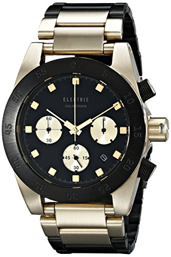 Electric Men'S Ew0030010014 Dw01 Stainless Steel Band Analog Display Japanese Quartz Gold Watch