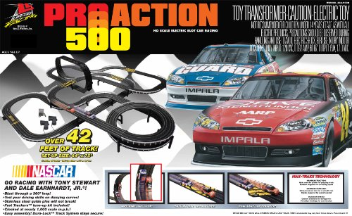 Life Like Pro Action 500 Slot Car Race Set - NASCAR