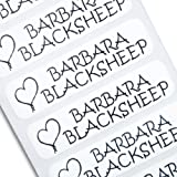 The Name Label Company Original Iron On Name Labels - 48 With Black Text