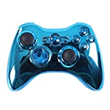 HDE Xbox 360 Wireless Controller Shell Buttons Thumbsticks Replacement Case Custom Cover Kit - Chrome Blue
