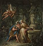Oil Painting 'Jean Franois Detroy Jason Swearing Eternal Affection To Medea ' Printing On High Quality Polyster Canvas , 10 X 11 Inch / 25 X 27 Cm ,the Best Bathroom Decoration And Home Decor And Gifts Is This Best Price Art Decorative Canvas Prints