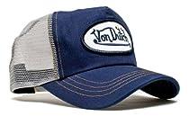 Von Dutch Originals Unisex-Adult Trucker Hat -One-Size Gray/Navy