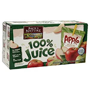 Amazon.com : Back To Nature Juice, Apple, 10-Count, 6 ...