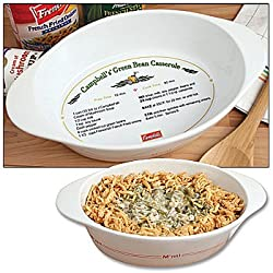Campbells Green Bean Casserole Recipe Dish - Sturdy Stoneware Kitchenware