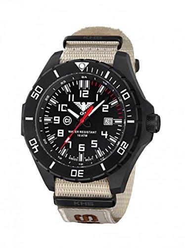 KHS Tactical orologio uomo Landleader Black Steel KHS.LANBS.NXTLT5