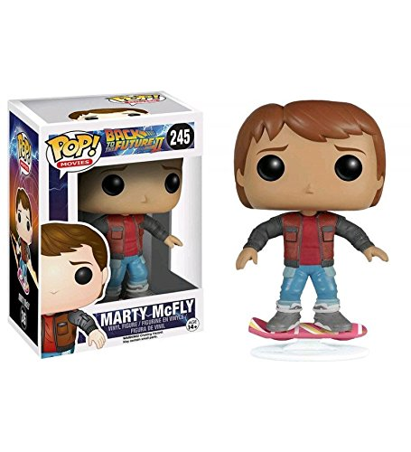 Funko Marty McFly Hoverboard Ritorno al Futuro Part II POP Movies Vinyl Figure 10 cm