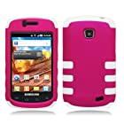 [SlickGears] Premium Dual Layer Protective Shell Case for Samsung Galaxy Proclaim S720C (Straight Talk) (Hot Pink/White Skin)