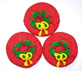 Scott's Cakes Green Wreath-Red Sugar Cookies in a 8 oz. Chili Peppers Bag