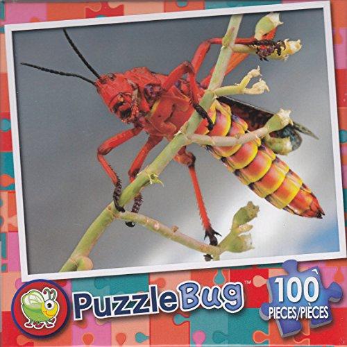 Puzzlebug 100 Piece Puzzle ~ Milkweed Grasshopper - 1