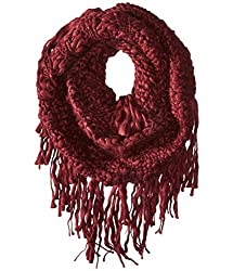 Gabriella Rocha Women's Marissa Fringe Infinity Scarf Burgundy Scarf One Size
