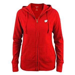 Wisconsin Badgers Ladies Red Signature Hood by Antigua