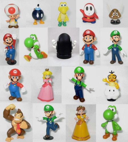 Super Mario Brothers: 2'' Mini Figures Set of 18