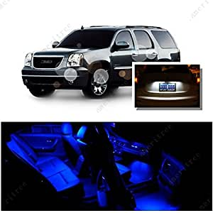 ameritree blue led lights interior package white led license plate kit for gmc. Black Bedroom Furniture Sets. Home Design Ideas