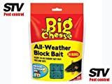 THE BIG CHEESE All-Weather Rat & Mouse Killer Rodenticide 36 Refill Blocks STV121