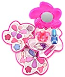 Dream Princess Flowers Mirror Case Pretend Play Toy Make Up Case Kit, Washable, Safety Tested, Formulated for Children