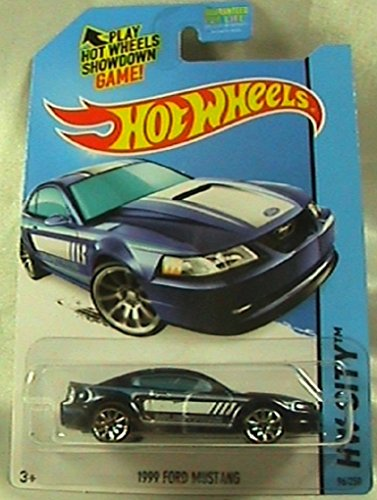 2014 Hot Wheels Hw City 1999 Ford Mustang - Blue