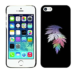 Omega Covers - Snap on Hard Back Case Cover Shell FOR Apple iPhone 5 / 5S - Crystal Leaf Black Spectrum Deep