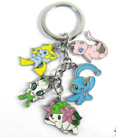 Pokemon Pikachu mew shaymin keyring keychain key chain #H - 1