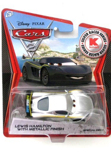 Disney PIXAR Cars 2 Lewis Hamilton With Metallic Finish Silver Racer Series KMart