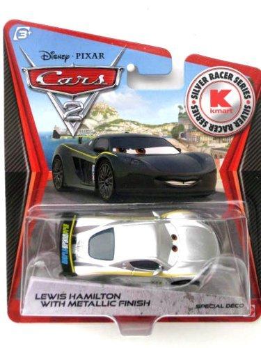 Disney PIXAR Cars 2 Lewis Hamilton With Metallic Finish Silver Racer Series KMart - 1