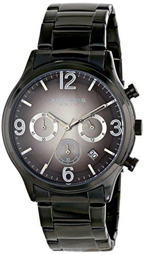 Akribos Xxiv Men'S Ak607Blk Ultimate Analog Display Japanese Quartz Black Watch