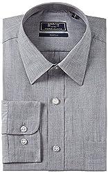 Arrow Men's Regular Fit Shirt (40) (Grey)