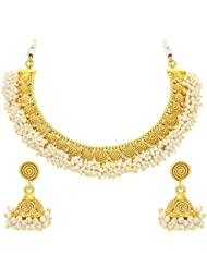 Sukkhi Divine Jalebi Gold Plated Necklace Set For Women