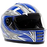 Youth Full Face Helmet Blue ( Small )